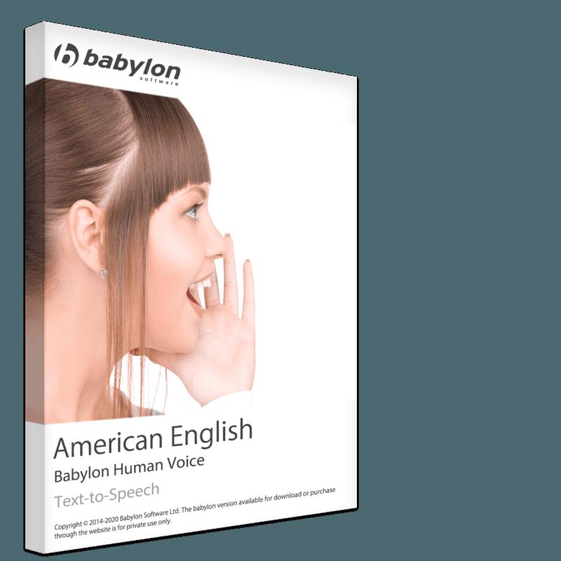Texto em inglês americano para fala