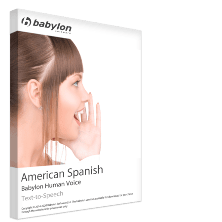Texte espagnol américain à la parole