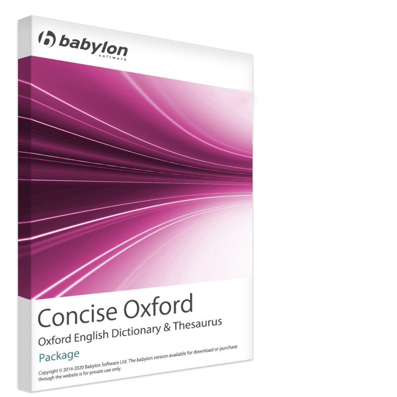 Concise Oxford English Dictionary and Thesaurus Package