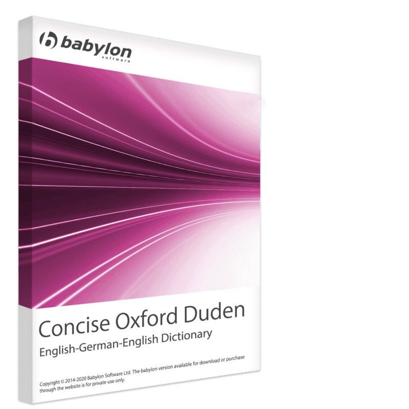 Concise Oxford Duden English-German-English Dictionary