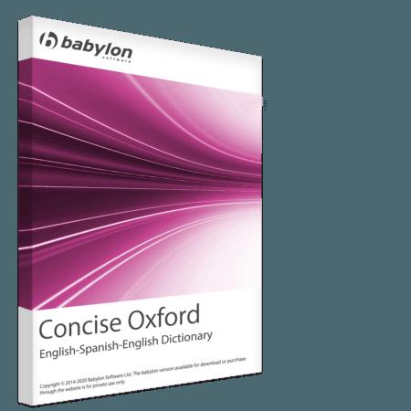 Dictionnaire concis Oxford anglais-espagnol-anglais