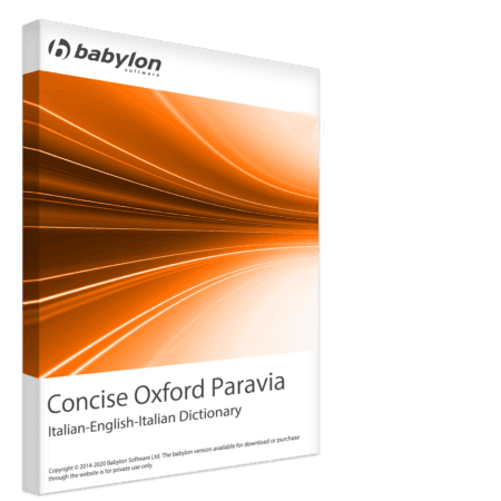Concise Oxford Paravia Italian-English-Italian Dictionary