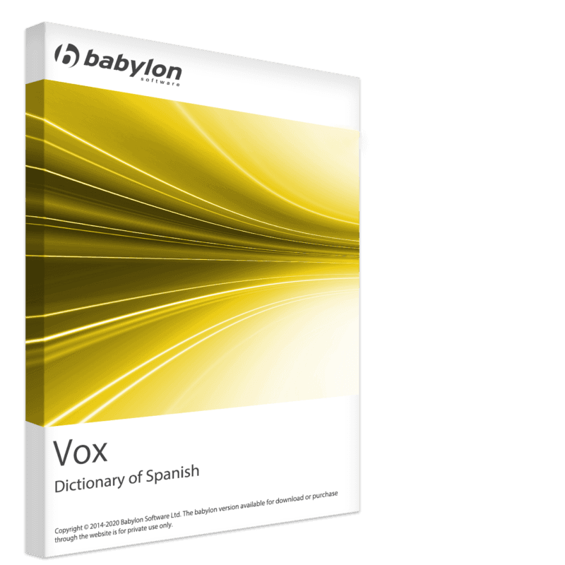 Vox Dictionary of Spanish with the spelling variations in use in Spain and Latin America