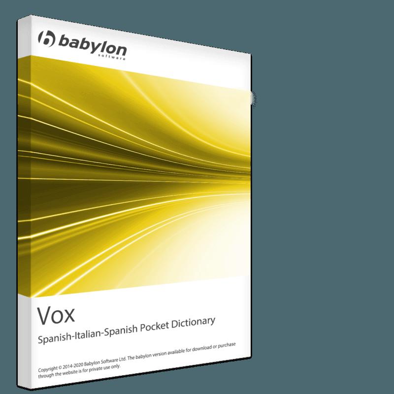 Vox Pocket Dictionary Spanish-Italian-Spanish